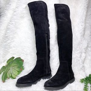 Vince Colton Over The Knee Black Suede Boots 7.5